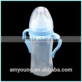 Wholesale Baby product soft silicone baby feeding food water bottle feeder with PP screw cap