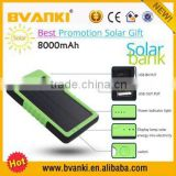 8000 mAh Dual USB Portable Solar Battery Charger Power Bank For Cell Phone
