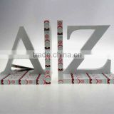 """A,Z"" letter shaped MDFnew design bookends for students and kids"