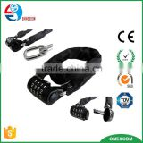 4 digital combination steel chain bike lock