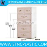 5-tier drawer storage cabinet plastic for clothes and sundries