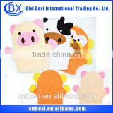 Factory price 2015 cartoon/custom baby bath glove,most popular bath glove