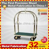 kindle 2014 new durable folding professional customized double layer basket shopping carts for sale