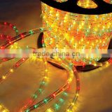 China wholesale 100% copper 3 wires flat round 100m decoration blue dimmer led rope light wholesale for