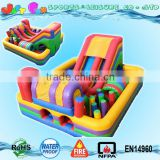 cheap backyard child inflatable bouncer slide course multiple use