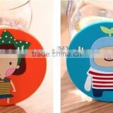 Custom fashion cartoon design silicone cup mats