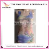 2016 Hot Seller Wholesale OEM Service Fitness Sexy Girls Picture Printed Gym Women Sports Singlets High Quality Sports Vests