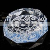 Elegant colorful Crystal Ashtray Beautiful Crystal Ashtray For Office Gift and Home Decoration,Crystal Craft