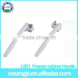 L001 china alibaba supplier cheap double left and right handle deep freezer handle with lock and key