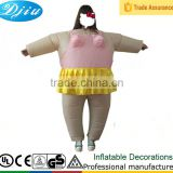 DJ-CO-101 inflatable Ballet clothing cow dinosaur baymax mascot ball fat costume