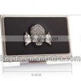 Fashion skull metal Business Card Case Stainless Steel Silver Aluminium Business ID Credit Card Holder Case Cover