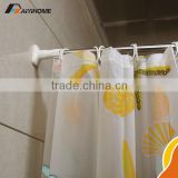 Easy Installation Corner Bathroom Shape Shower Curtain Pole / Rod / Rail Curved mental shower curtain rod