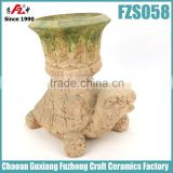 Moss tortoise shaped decorating flower pots