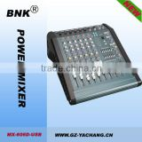 6 channel power mixer amplifier