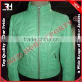 Latest Custom Design Ladies Leather Bike Jacket, Genuine leather Fashion Jacket