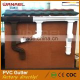 Guangzhou roofing materials Wanael 5.2inch, 7inch brown, black rain collector Africa PVC Gutter Drain