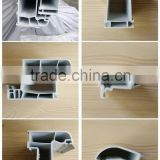 pvc compound door window profile by plastic extrusion machinery/plastic company
