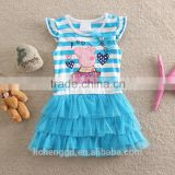 (H103) Baby girl dresses summer kids fashion dresses wedding party dresses children girls Neat brand 2-6Y kids frock clothes