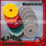 3 Steps Spiral White Polishing Pads for Granite                                                                         Quality Choice