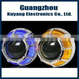 G8 Factory Hot Sale Auto Headlight HID Kit Bixenon Projector Lens with angel eye for H4,H7,9005,9006