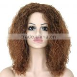 "20"" Cheap Afro Long Kinky Curly Wig African American Wig For Black Women Cheap Realistic Synthetic Hair Natural Wigs"