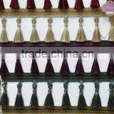top quality trims curtain tassel fringe polyester drapes tassel fringe trimming decoration