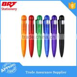 Hot selling transparent color ball point pen for promotion
