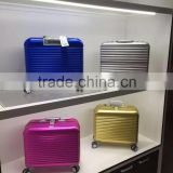 Full aluminium alloy metal hard casing luggage bag complete alloy trolley case for valubles protection