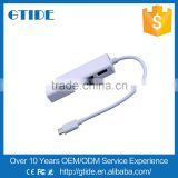 MultiFunction USB 3.1 Type C Male to Female RJ45 Lan port Gigabit Ethernet Network Adapter and 3 ports USB 3.0 Hub