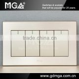 Big button modern electric switch & household electric switch & 4 gang 1 way wall switch