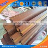 Hot! Direct factory wooden window frames designs/ aluminum transom window/ extruded wood profile aluminum window