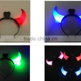 Light emitting horn headband for Christmas and holiday party