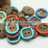 Colorful Coconut Shell Buttons Round 2 holes in bulk wholesale for clothes sewing crafting scrapbooking