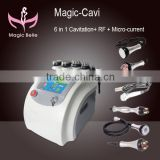 Magic Belle Newest Product!!guangzhou Manufacturer Portable 6 In 1 Ultrasonic Ultrasound Therapy For Weight Loss Rf Slimming Cavitation Beauty Machine Ultrasonic Liposuction Cavitation Slimming Machine
