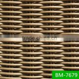 SGS certificated 3000 hours tested round braiding pe rattan material for garden furniture sets