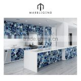 Luxury wall decoration translucent panel blue agate stone slab