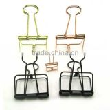 creative butterfly empty metal wire folder binder clips with strong strength in golden and rose copper