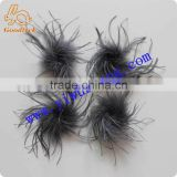 China supplier wholesale dress up item decotation dark straight ostrich feather for decoration or accessories import from China