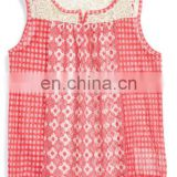 Layer ready sleeveless crocheted neckline tops