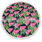 TOROS competitive manufacturer watermelon shaped round beach towel