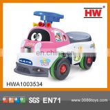 Hot Sale New Model Baby Walker Cartoon Cars For Kids With Music Pink Color