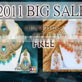 INDIAN BRIDAL JEWELRY NECKLACE SET BUY 1 GET 1 FREE!!..