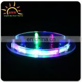 Coaster of LED flashing light up coaster for bars ,hotel accessaries LED glowing plastic cup mat