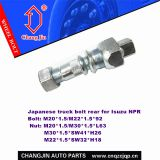 Hub bolt and nut for Isuzu NPR Rear