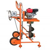 Hand push garden tree planting Digging Machine Earth Auger