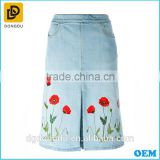 Hot sale Denim embroidery Designer long skirts
