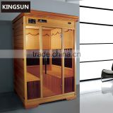Top Sanitary Ware Prefabricated Wood Dry Steam Sauna Room Infrared Sauna 2 Person House K-7125