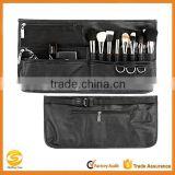 High quality professional cosmetic makeup tool roll with belt, makeup brush holder roll up organizer in beauty,makeup brush roll