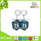 Blue and black color PVC keychain for celebration