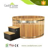 Latest design outdoor luxury Red Cedar wood spa hot tub on sale